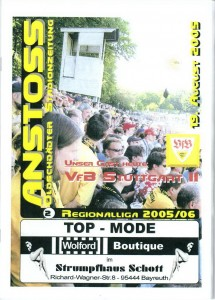 050819_Heft_SpVgg_Bayreuth_VfB_Stuttgart_II