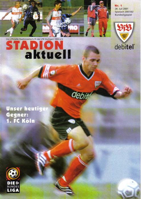 Programm 2001//02 Borussia Dortmund VfB Stuttgart