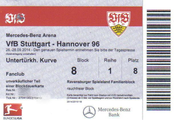 vfb stuttgart vs hannover 96