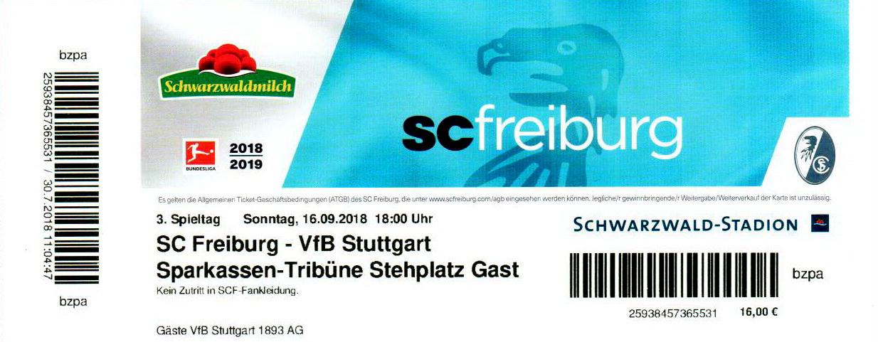 Sc Freiburg Karten.Sc Freiburg Vs Vfb Stuttgart 1893 2018 2019 Www Soke2 De