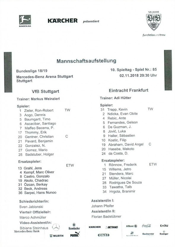 181102_Aufstellung_vfb_frankfurt