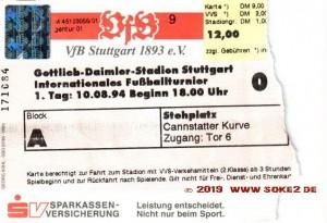 940810_Tix_VfB_Stuttgart_PSV_Eindhoven