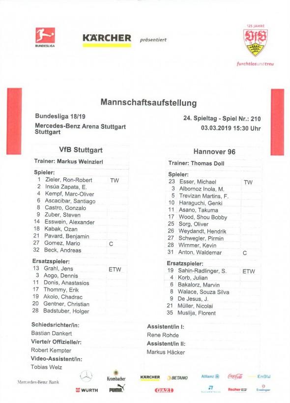 190303_Aufstellung1_VfB_Hannover