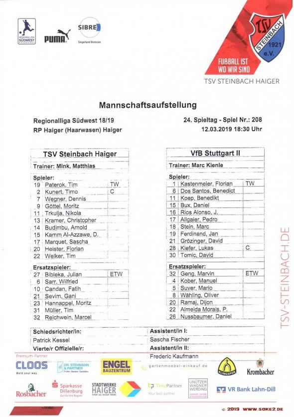 190312_Aufstellung_Steinbach_VfB_U21