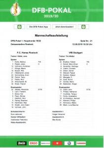 190812_Aufstellung_Hansa_Rostock_VFB_Stuttgart_DFB-Pokal_Soke2