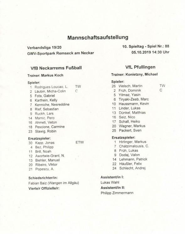 191005_Auftsellung_Neckarrems_Pfullingen_Verbandsliga
