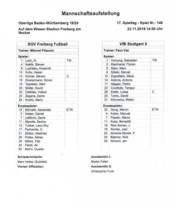 191123_Aufstellung_Freiberg_VfB_U21