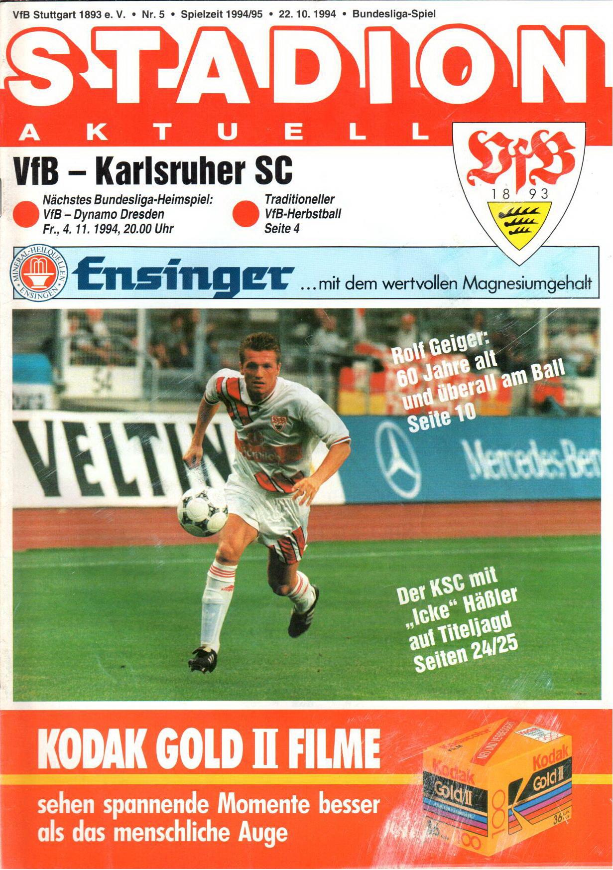 941022_Heft_VfB_Stuttgart_Karlsruher_SC